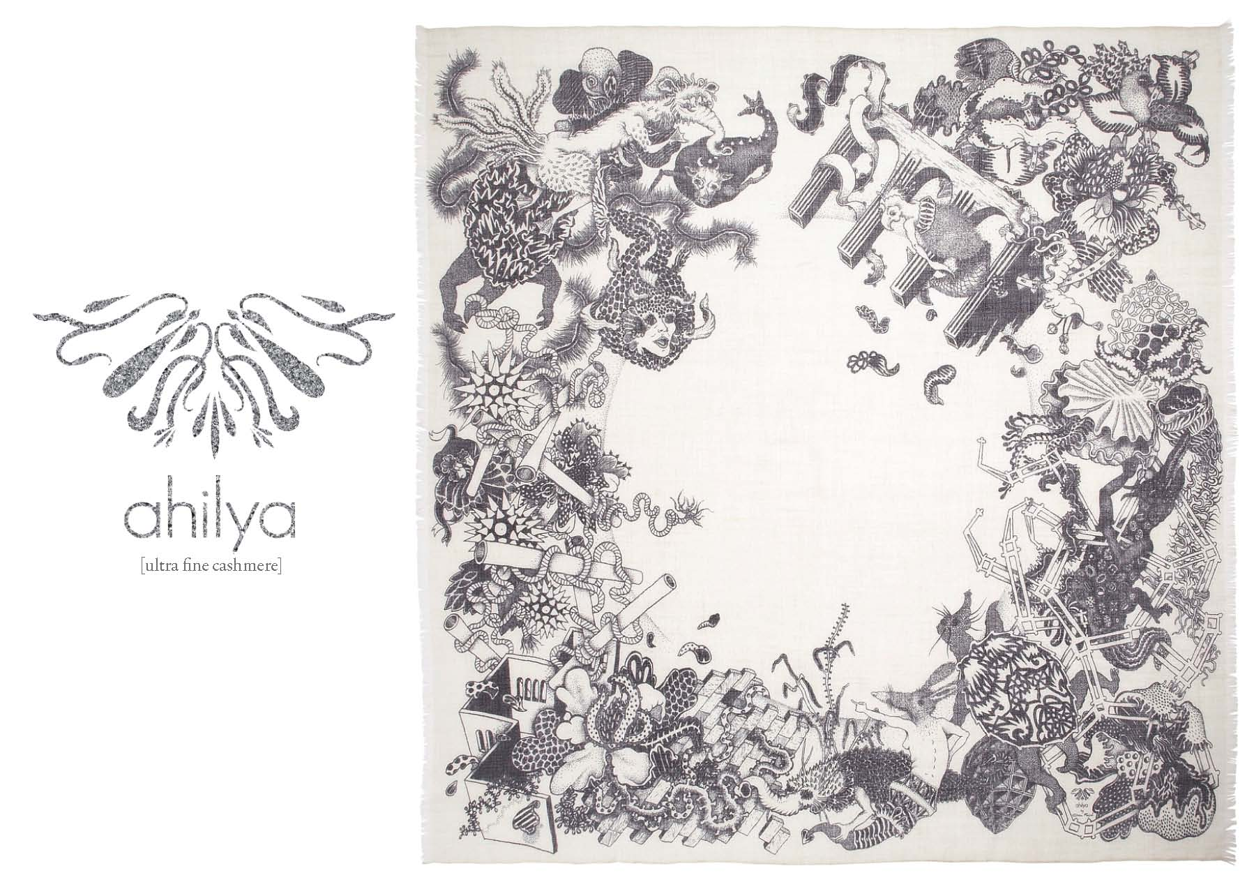 Fanjul Pour Ahilya SS11 Print Cashmere Scarf